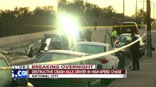 High-speed chase ends in fatal crash