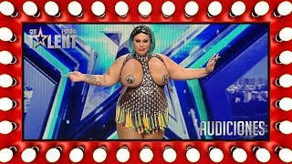 Video Wendy Superstar 'tits' syncs for her life | Auditions 1 | Spain's Got Talent 2018 MP3, 3GP, MP4, WEBM, AVI, FLV Juli 2018