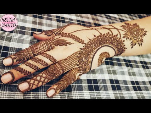 Latest Simple One Finger Henna Design 2018 Heena Vahid