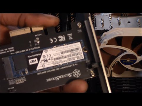 Installing My M.2 Drive In My Silverstone Expansion Card For My PCIE Slot On My Motherboard