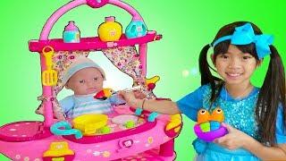 Emma Pretend Play w/ Little Cry Baby Doll Nursery Play House Playset
