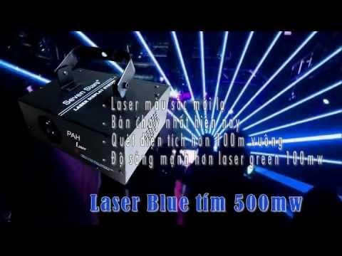 Laser Ocean xanh dương 500mw trang trí beer club