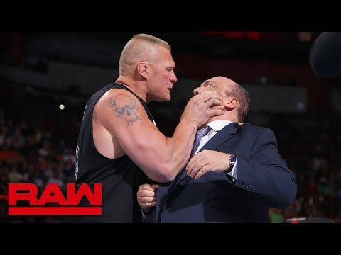 Video Brock Lesnar snaps and attacks Paul Heyman: Raw, July 30, 2018 download in MP3, 3GP, MP4, WEBM, AVI, FLV January 2017