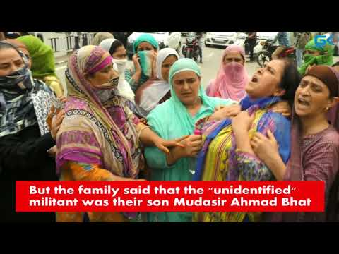 Family of Barzulla militant protests  to demand his mortal remains
