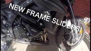8. Installing Puig Frame Sliders For 2018 Suzuki GSX-S 750Z