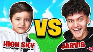 FaZe H1ghSky1 Vs My Little Brother Jarvis (Fortnite 1v1)