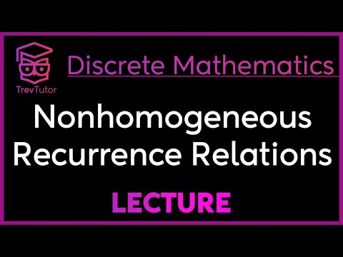 [Discrete Math 2] Nonhomogeneous Recurrence Relations
