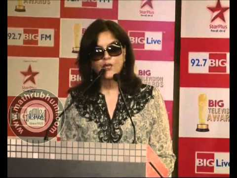 ZEENAT AMAN, SMRITI IRANI, SACHIN AT TV AWARDS