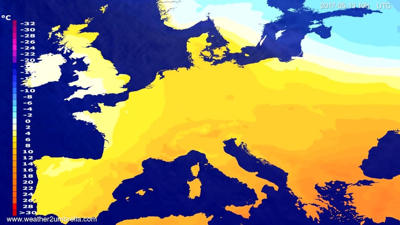 Temperature forecast Europe 2017-05-11