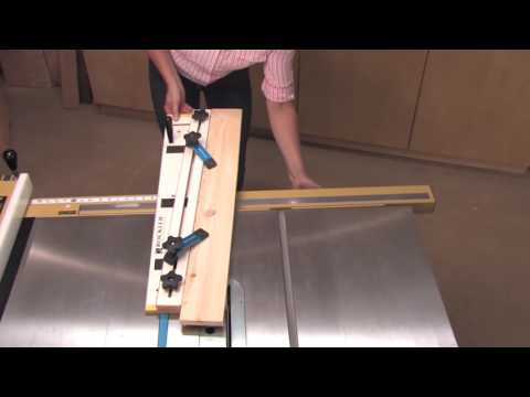 Table Saw Jig For Cutting Straightline Edges or Tapers