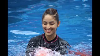 In Graphics: Yami Gautam practice Speedo Aquafit-Vertical underwater fitness training