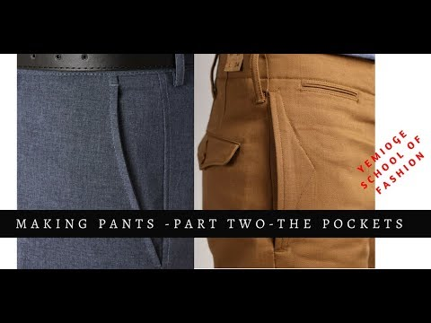 Making Male Trousers (Part Two) - Making The Pockets