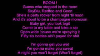 LMFAO Champagne Showers Lyrics