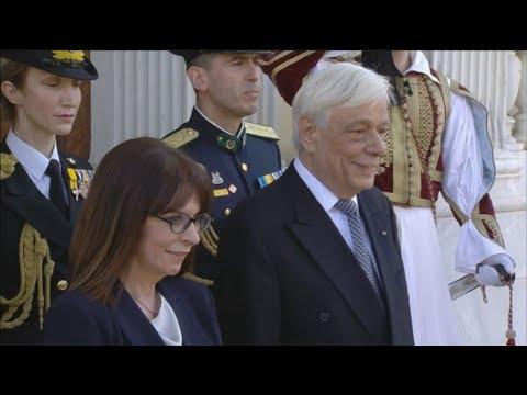 Τελετή παράδοσης και παραλαβής στο Προεδρικό Μέγαρο