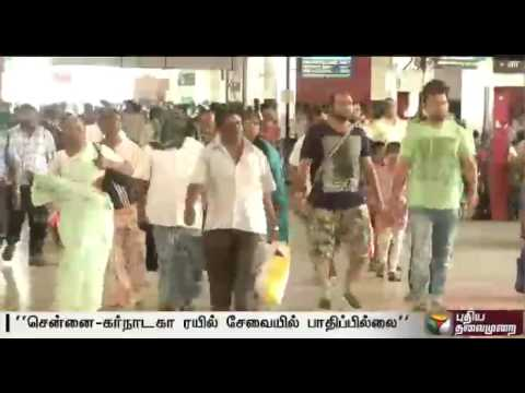 Cauvey-protests-Train-services-from-TN-Karnataka-not-affected