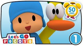 Pocoyo português Brasil -  Let's Go Pocoyo! - O banho do Pocoyo [ 50 MINUTOS Ep 01 ]  DESENHOS ANIMADOS para crianças HD