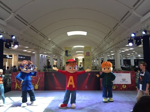 Alvin and the Chipmunks performing at City Centre Deira this DSS