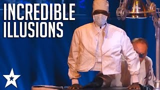 Download Video TOP ILLUSIONISTS on America's and Britain's Got Talent! | Got Talent Global MP3 3GP MP4
