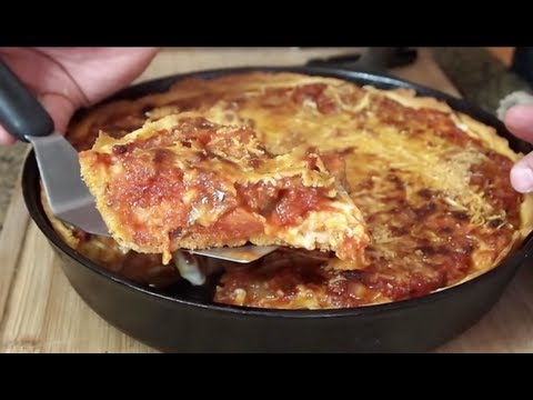 meat lovers - On this video, I'll show you how to make a delicious deep dish pizza on the grill! Deep Dish Pizza Dough Recipe: http://allrecipes.com/recipe/the-real-chicag...