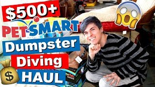 HUGE PETSMART DUMPSTER DIVING HAUL! *OVER $500* by Tyler Rugge