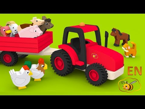 Farm animals and their sounds for children. Educational video for babies and toddlers.