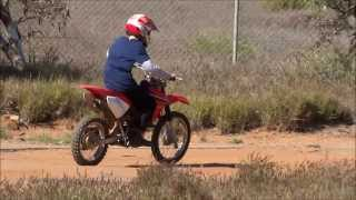 9. Me Riding My (now my younger cousin's) 2008 Honda CRF80F