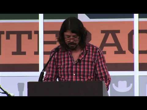 Grohl - Dave Grohl giving his Keynote speech at South By Southwest (SXSW) 2013.