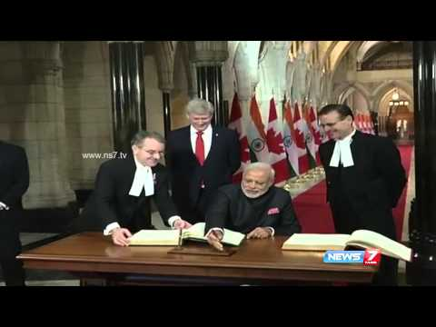 Modi in Canada  India signs 13 deals with Canada