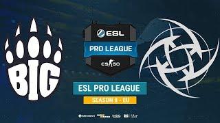 BIG vs NiP - ESL Pro League S8 EU - bo1 - de_train [Enkanis]