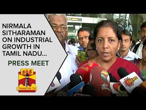 Nirmala-Sitharaman-on-Industrial-Growth-in-Tamil-Nadu-Press-Meet--Thanthi-TV