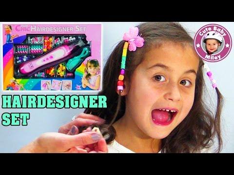 HAIRDESIGNER SET | Perlen als Haarschmuck für Miley - Kanal für Kinder