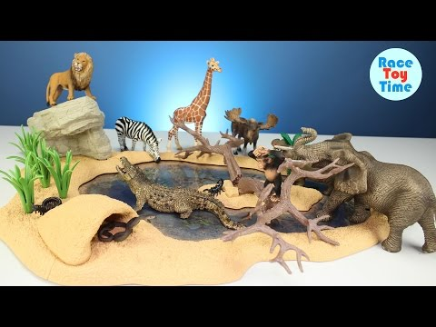 Safari Zoo Wild Animals Toys Schleich Toys Collection - Learn Animal Names For Kids
