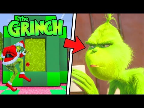 HOW TO MAKE A PORTAL TO THE GRINCH DIMENSION - MINECRAFT GRINCH CHRISTMAS