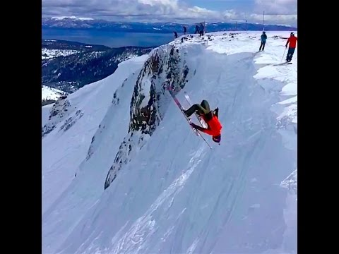 Miles Clark - Chimney, Palisades, & Backflip Session at Squaw Valley, CA on 3/27/17