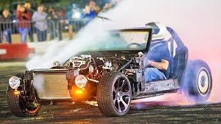 Jet car in DEMO DERBY! by 1320Video