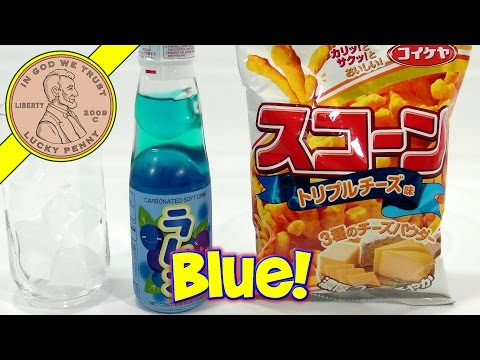 Frente 3-Cheese Corn Snack & Ramune Blueberry Soft Drink