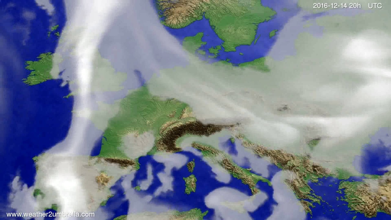 Cloud forecast Europe 2016-12-12
