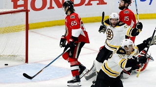 Sean Kuraly's second goal of the game at 10:19 of the second overtime gave the Boston Bruins a 3-2 win over the Ottawa Senators in Game 5.