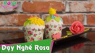 Bánh Fondant cupcake cực đẹp - Vị