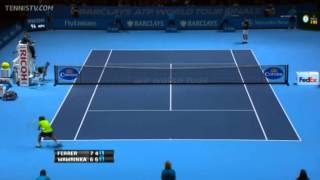 Tennis Highlights, Video - David Ferrer Vs Wawrinka Barclays ATP World Tour Finals 2013 Group A 3rd Set