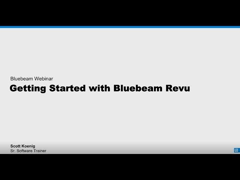 Getting Started With Revu 2018