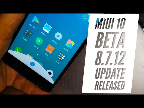 Miui 10 Beta Update 8.7.12 Released for Many Devices | Features | Hindi - हिंदी