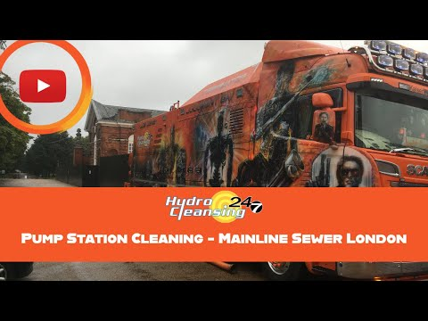 Pump Station Cleaning - Mainline Sewer London