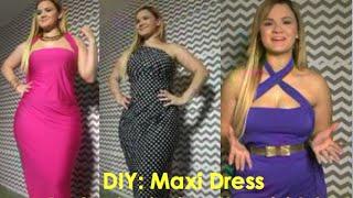 """DIY: Como Hacer un Maxi Dress Sin Cortar y Sin Coser: Por Stephanie Li """"La Shoppinista"""" - YouTube"""
