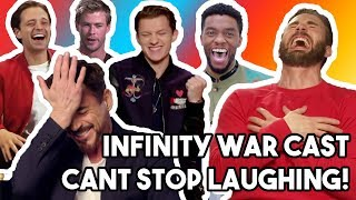 Video AVENGERS INFINITY WAR CAST LAUGHING LIKE IDIOTS! MP3, 3GP, MP4, WEBM, AVI, FLV Juli 2018