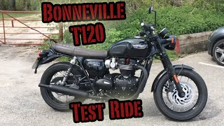 6. Triumph Bonneville T120 Black Test Ride