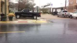 Donaldsonville (LA) United States  city images : Sleet falling on Railroad Avenue in Donaldsonville, Louisiana
