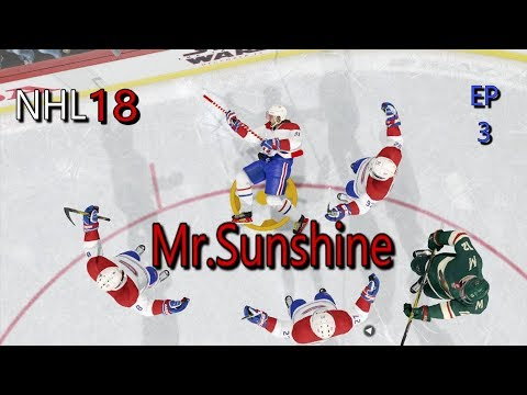 NHL18 Be A Pro The Creation Of Mr.Sunshine Episode 3