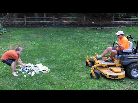 dad - An angry father runs over his son's video game collection with a lawn mower. Want more videos like this one, check out the Psycho Series: http://www.youtube....
