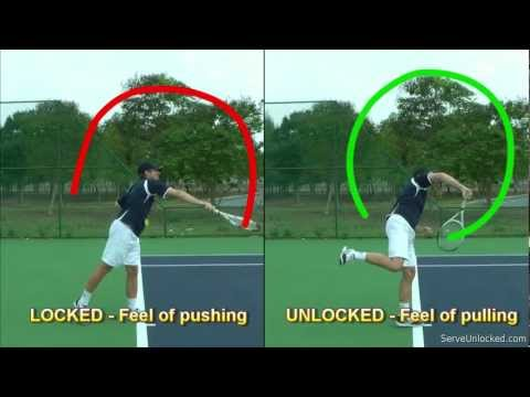 Tennis Serve Racquet Path – Linear vs Circular